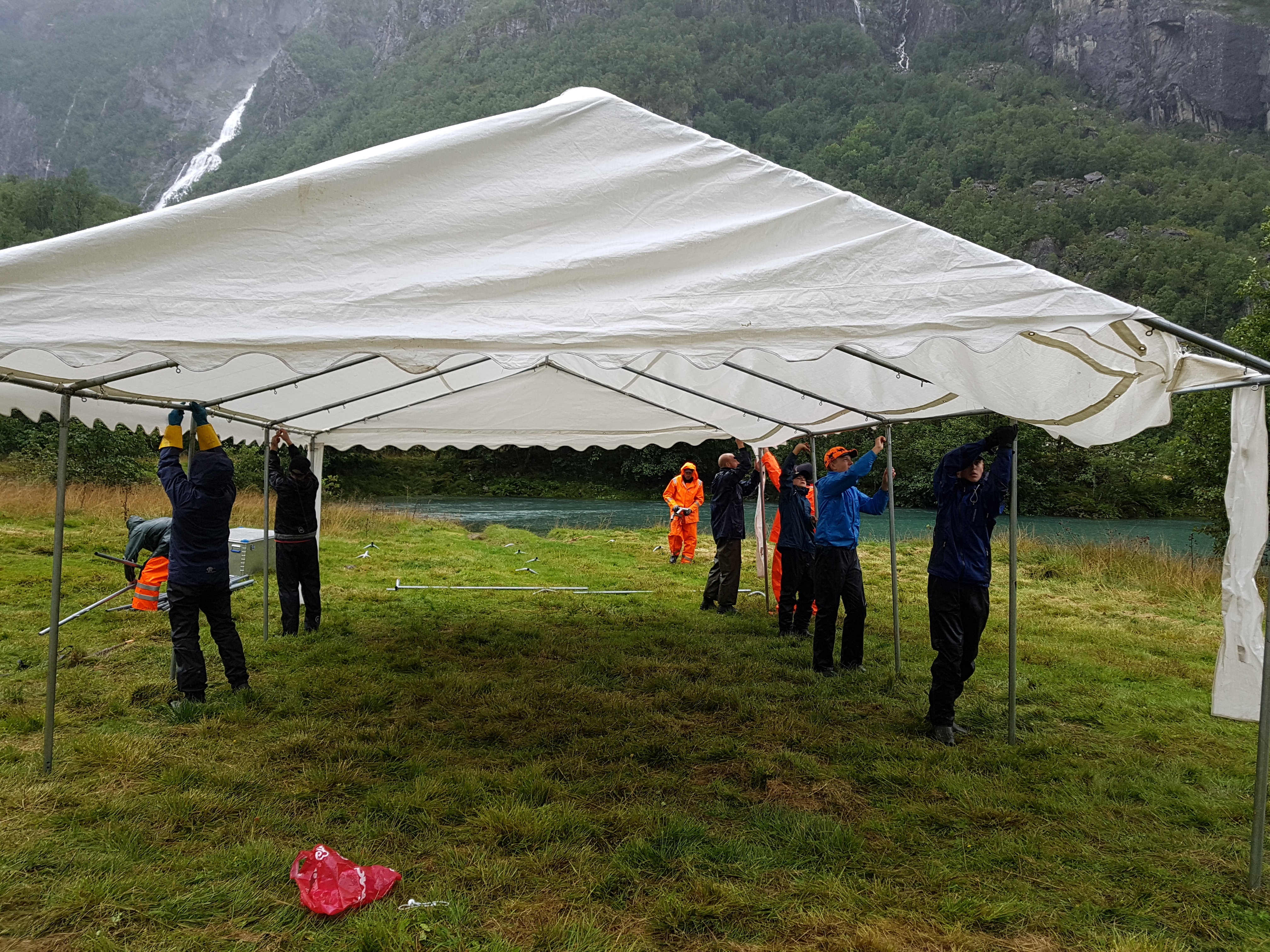 Rigging av telt